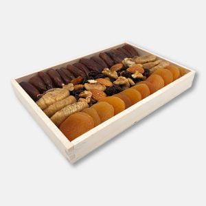 Mix owoców suszonych i orzechów w drewnie 350 g